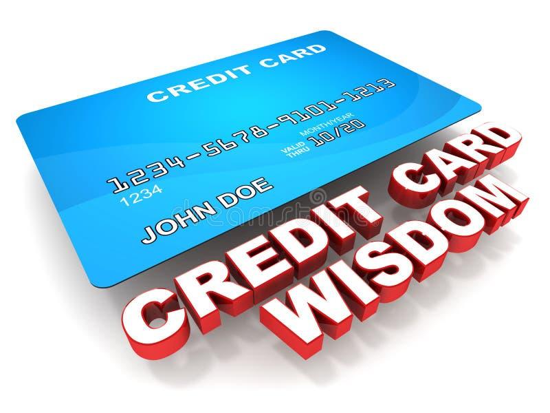 Pontas do cartão de crédito ilustração stock