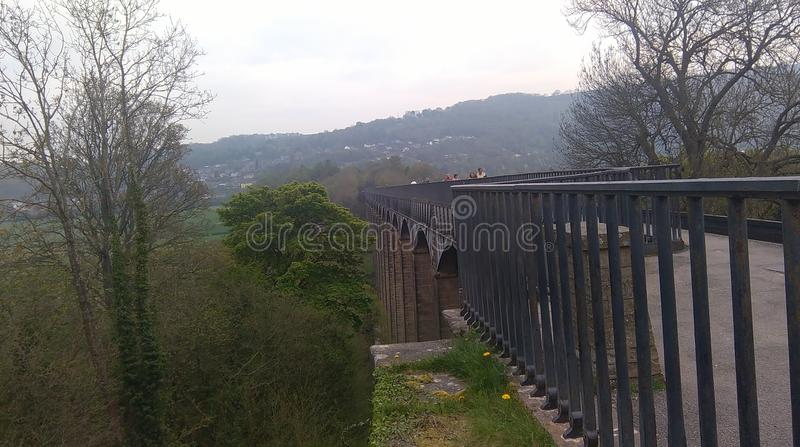 pontcysyllte aquaduct royalty-vrije stock foto's