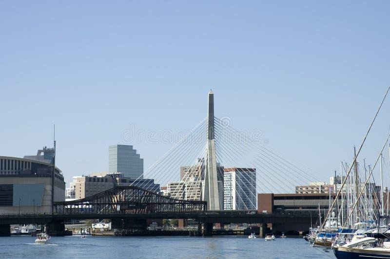 Ponte 1 de Leonard P. Zakim fotos de stock