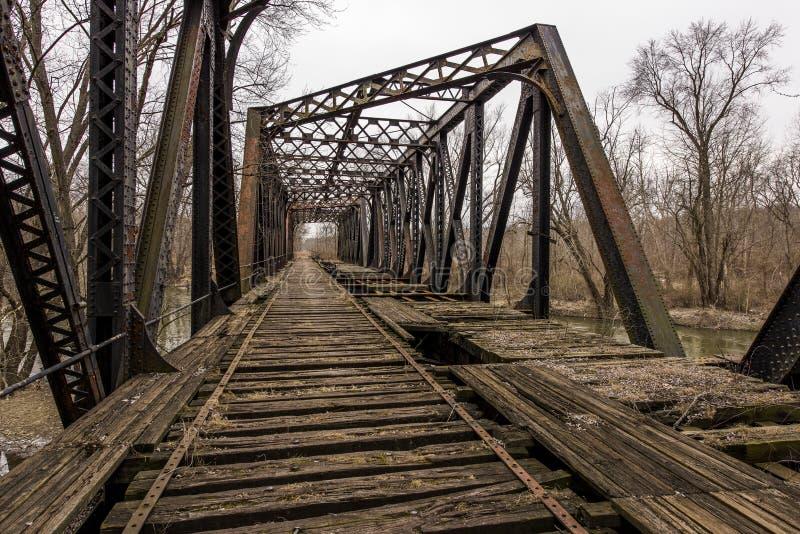 Ponte abbandonato della ferrovia - Pensilvania fotografia stock