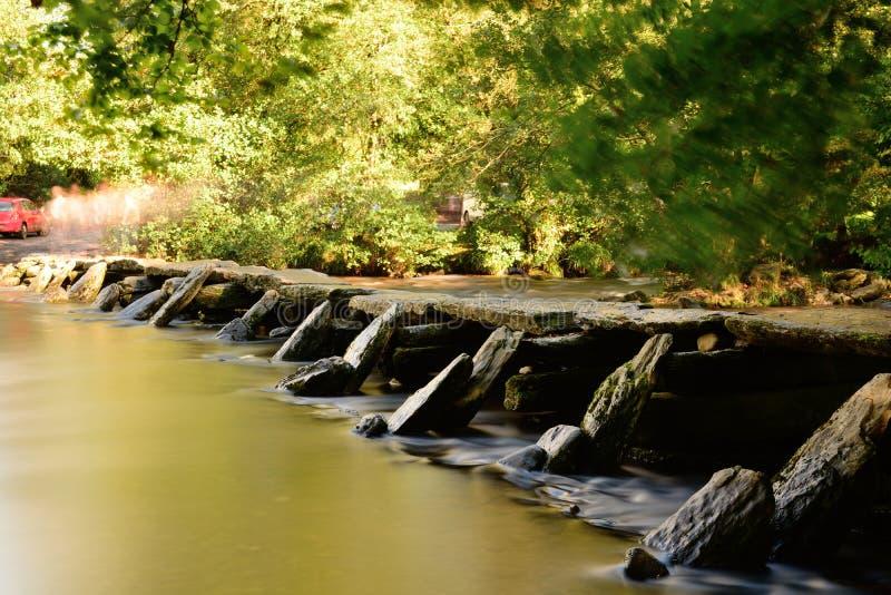 Ponte ai punti di Tarr in Devon immagine stock