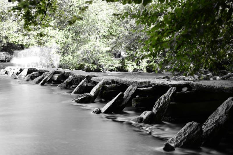 Ponte ai punti di Tarr in Devon fotografia stock libera da diritti