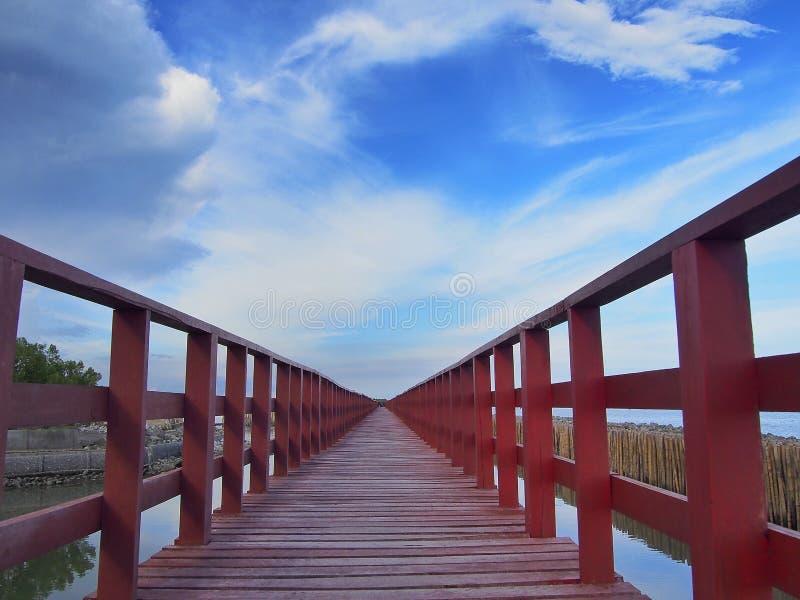 Ponte al cielo fotografia stock libera da diritti