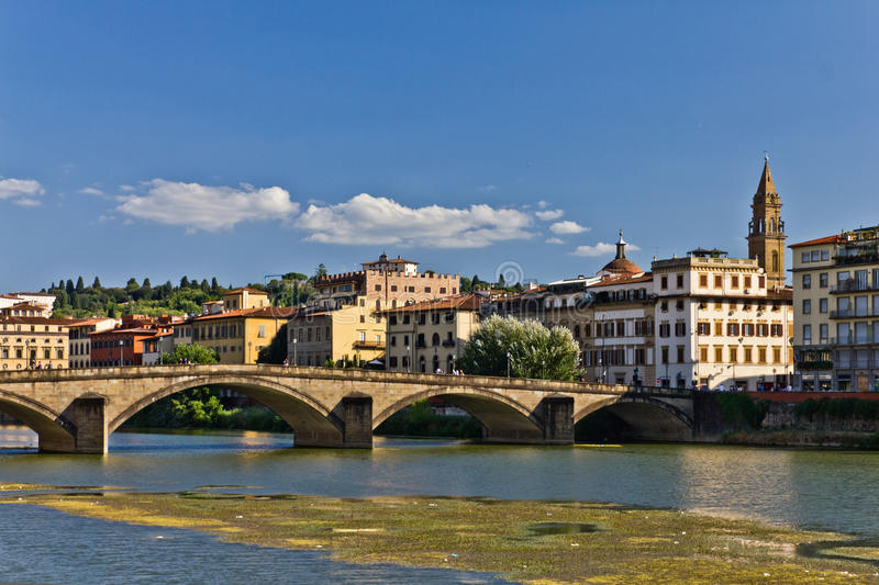 Ponte alla Carraia in Florence, Italy royalty free stock photo