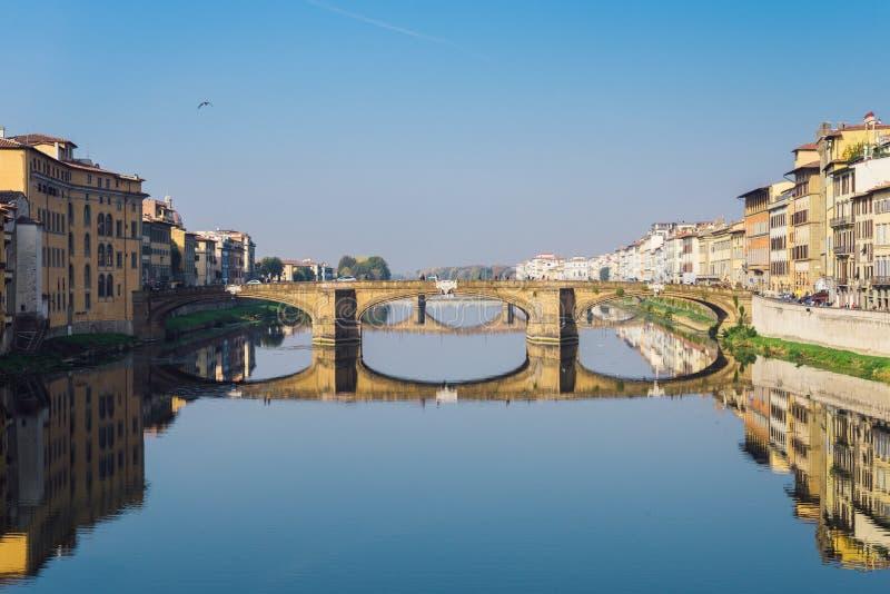 Ponte-alla Carraia, Florenz, Toskana, Italien stockbild