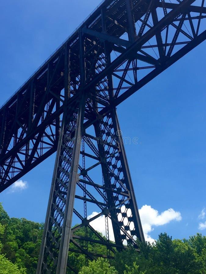 Ponte alta que cruza o rio de Kentucky imagens de stock royalty free