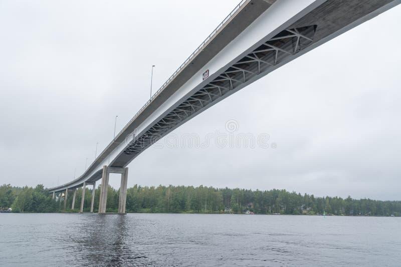 Ponte alto in Puumala, Finlandia fotografia stock libera da diritti