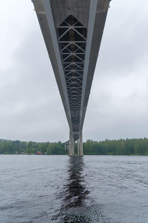 Ponte alto in Puumala, Finlandia immagine stock libera da diritti