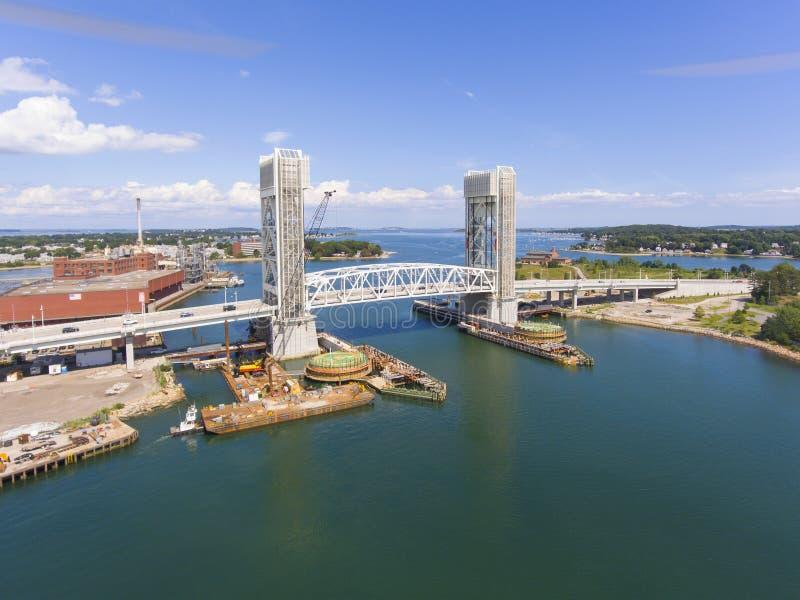 Ponte anteriore del fiume in Quincy, Massachusetts, U.S.A. immagine stock libera da diritti