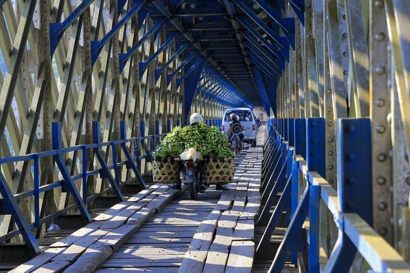Ponte antico di Cirahong l'eredità coloniale olandese fotografia stock libera da diritti