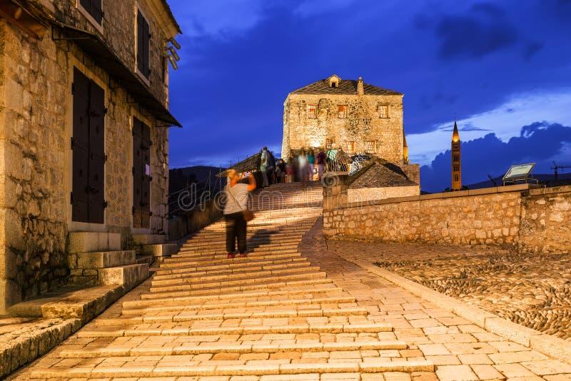 Ponte antico a Mostar - Bosnia ed Erzegovina immagine stock