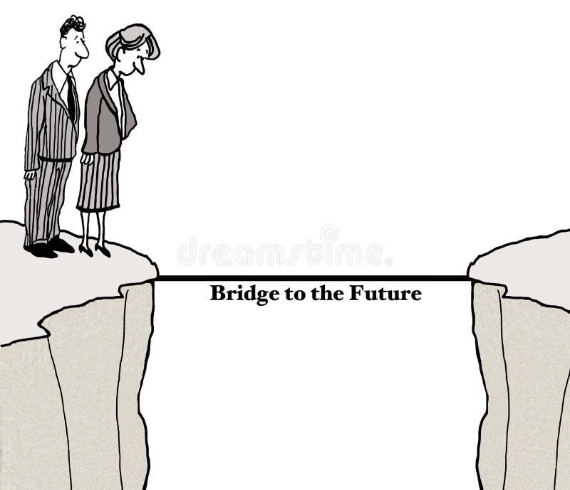 Ponte ao futuro ilustração royalty free