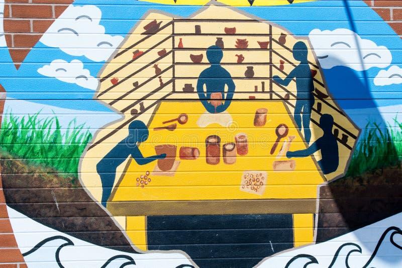 Ponte Art Graffiti fotografia stock libera da diritti