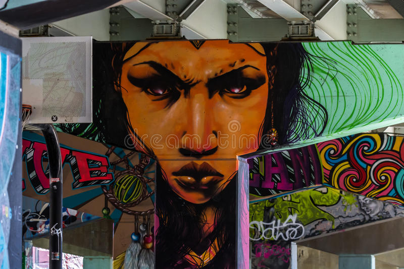 Ponte Art Graffiti fotografia de stock royalty free