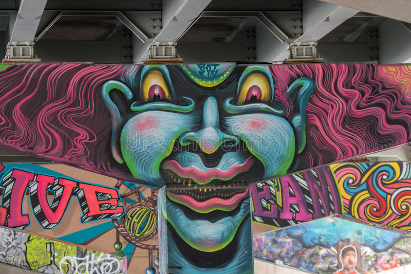 Ponte Art Graffiti fotografia stock