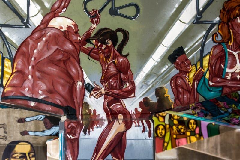 Ponte Art Graffiti immagini stock