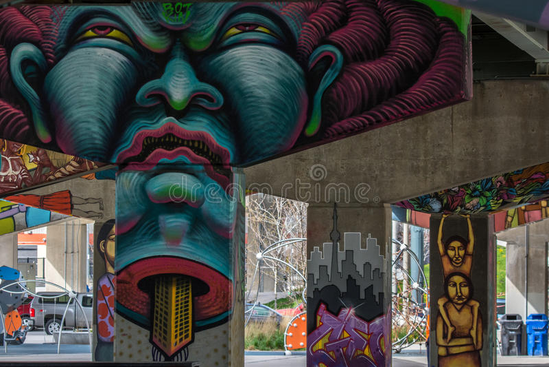 Ponte Art Graffiti fotos de stock royalty free