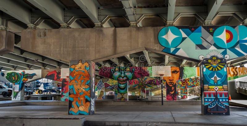 Ponte Art Graffiti imagens de stock