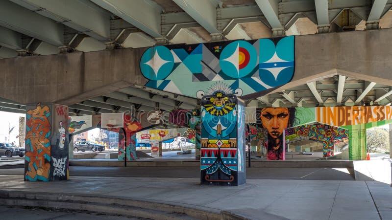 Ponte Art Graffiti fotografia de stock
