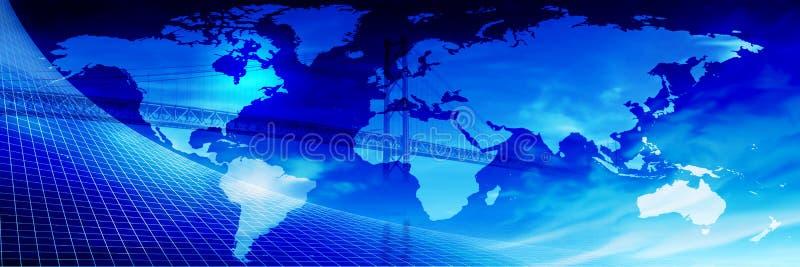 Ponte através do mundo? ilustração royalty free