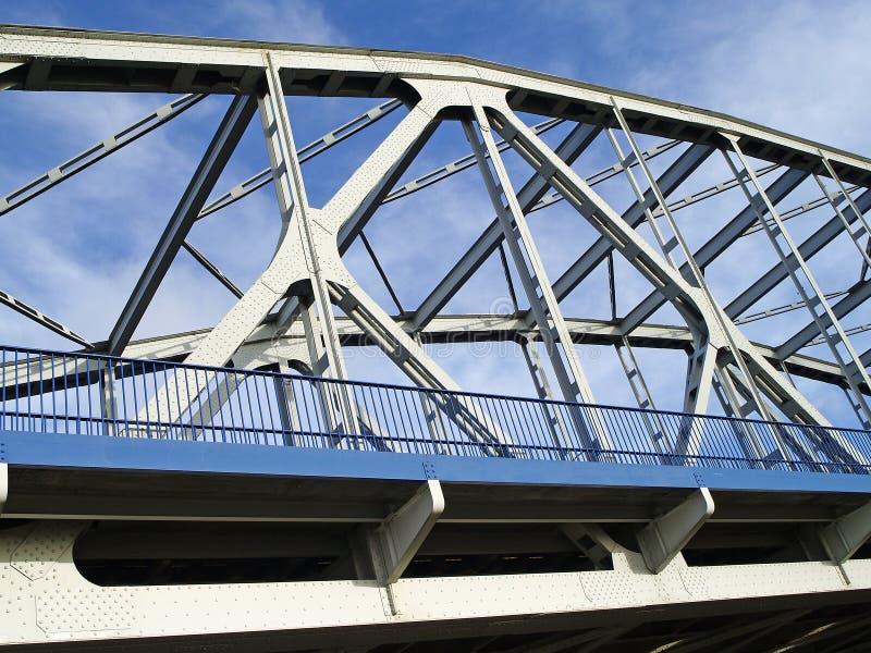 Ponte Attraverso Il Fiume La Vistola Immagini Stock