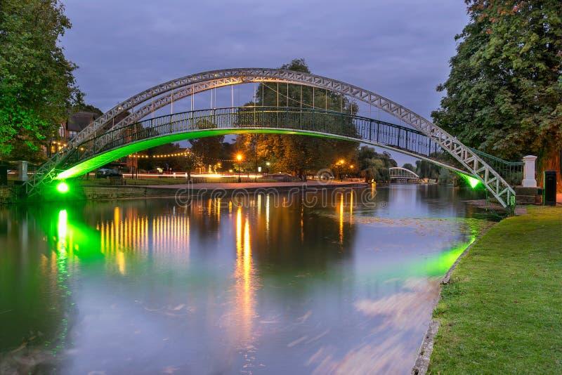 Ponte attraverso il grande Ouse in Bedford England fotografia stock