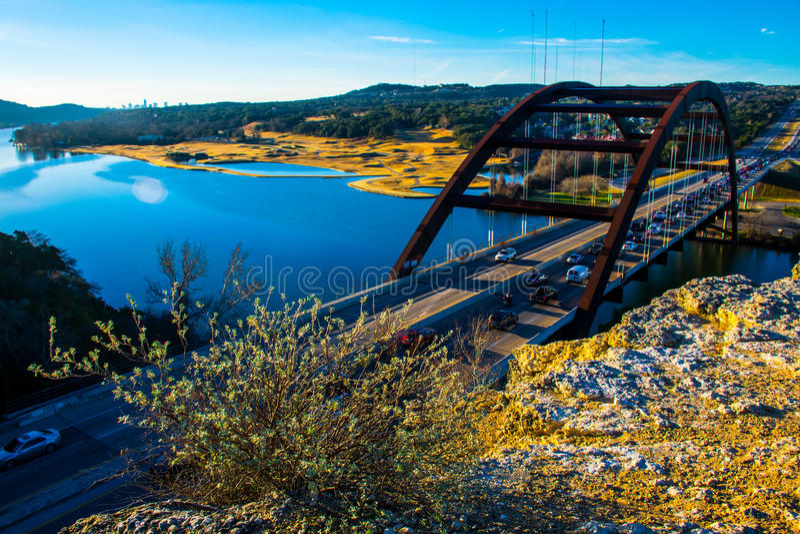 360 ponte Austin Texas Morning Sunrise foto de stock royalty free