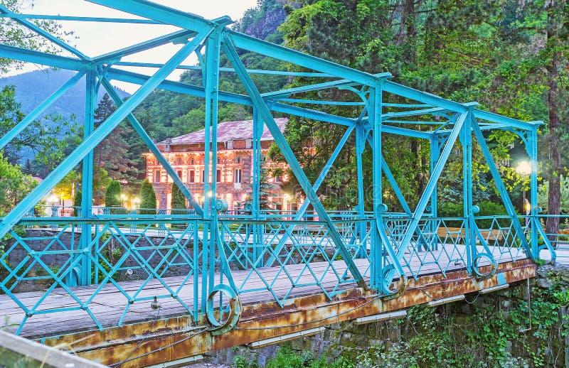 A ponte azul foto de stock royalty free