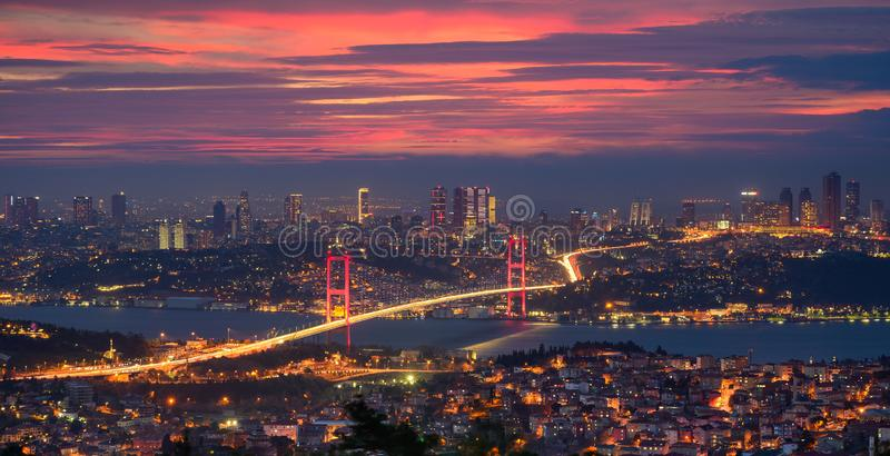 Ponte bósforo em Istambul, Turquia fotografia de stock royalty free