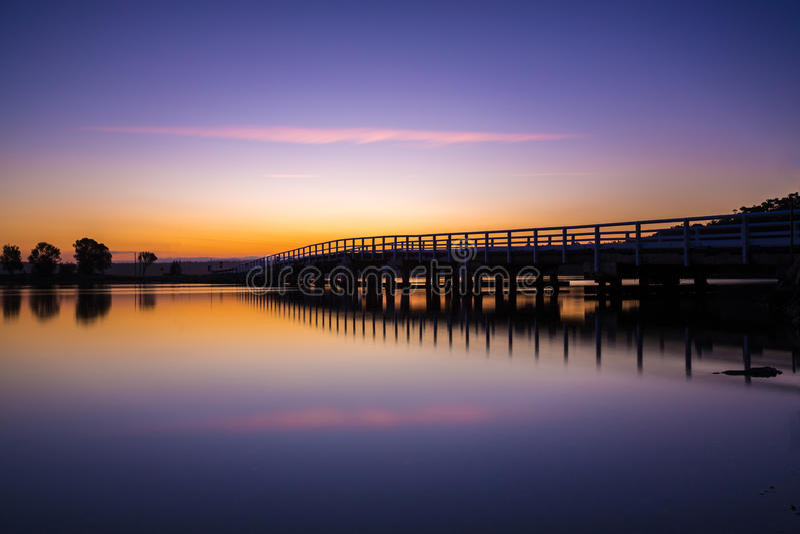 Ponte a Bermagui, nuovo sud, Galles, Australia immagine stock