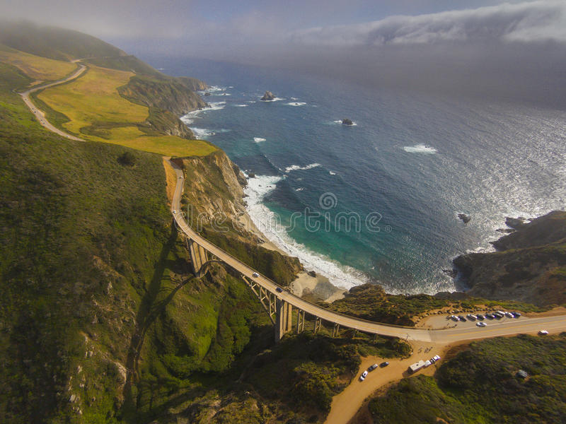 Ponte Big Sur Califórnia da angra de Bixby imagem de stock royalty free