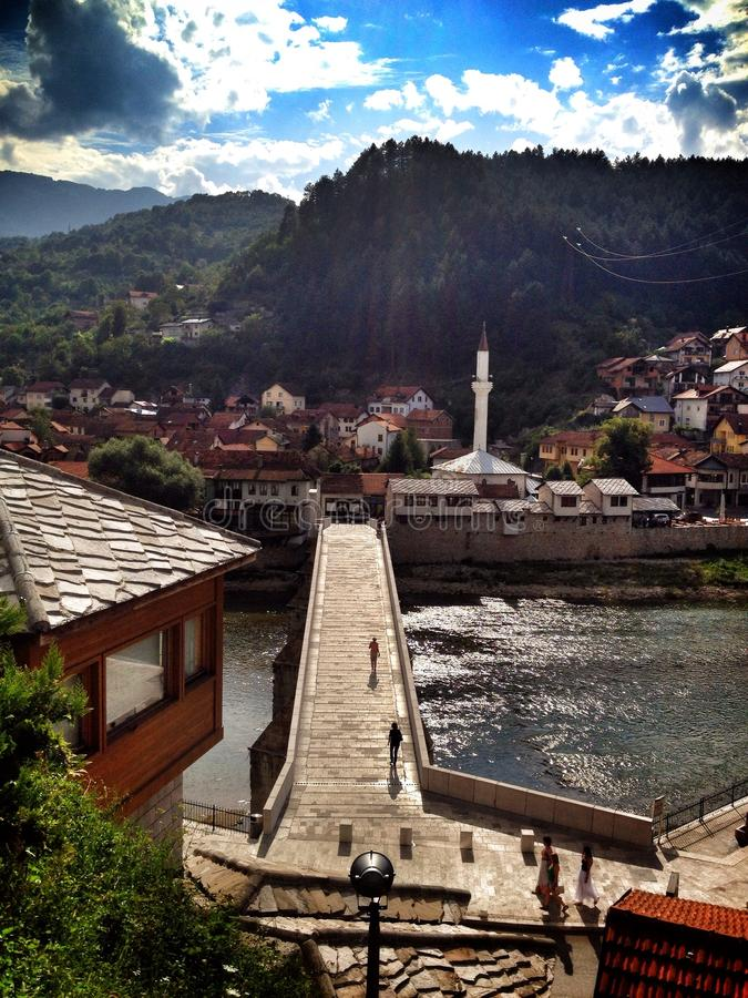 ponte in Bosnia immagini stock libere da diritti