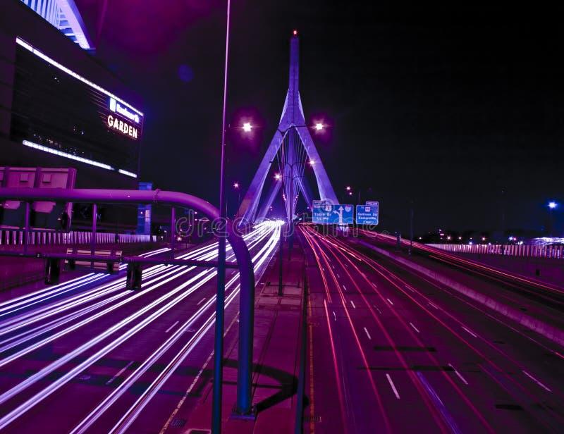 Ponte Boston de Lenny Zakim imagem de stock royalty free