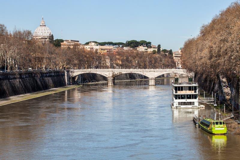 Ponte (Bridge) Giuseppe Mazzini, Roma. Italy. Ponte Giuseppe Mazzini, also known as Ponte Mazzini, is a bridge that links Lungotevere dei Sangallo to Lungotevere stock photography