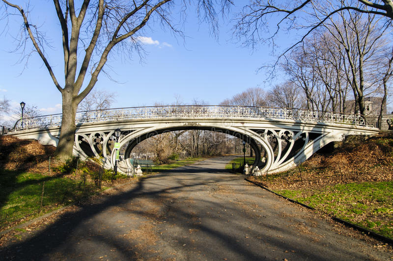 Ponte in Central Park, New York immagine stock
