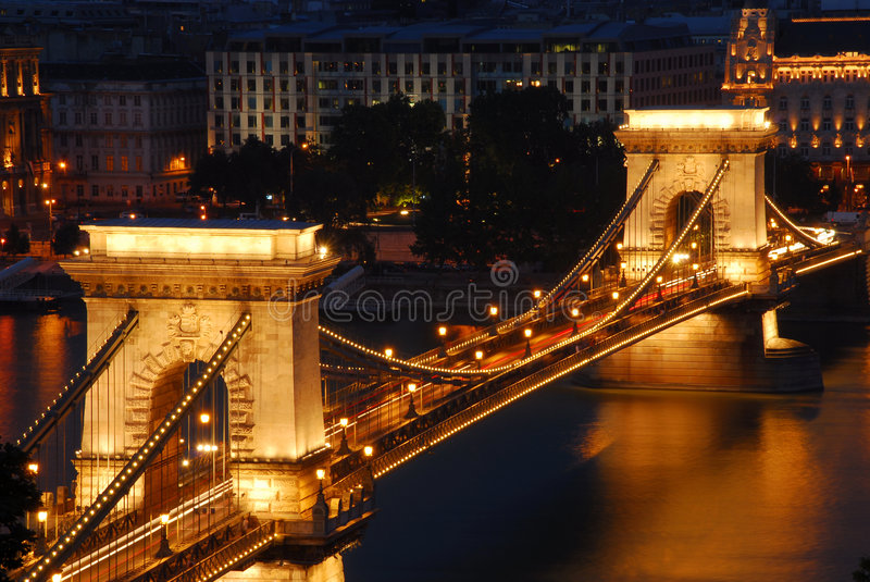 Ponte Chain, Budapest imagem de stock royalty free