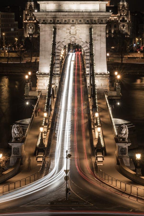 A ponte Chain de Budapest fotografia de stock