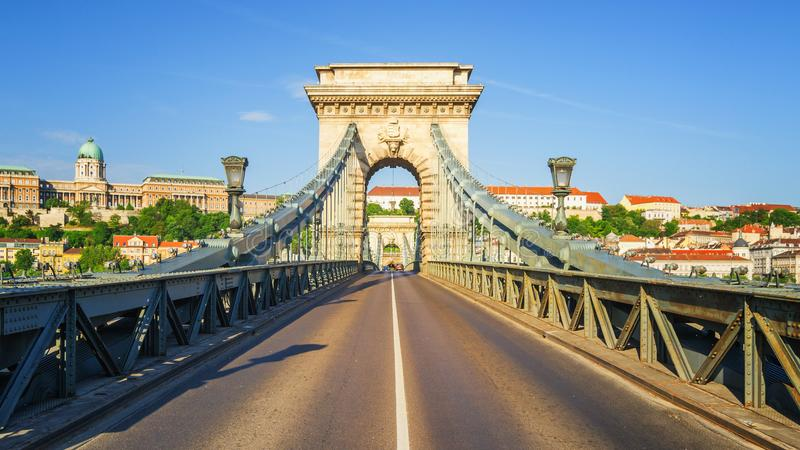 Ponte Chain de Budapest foto de stock royalty free