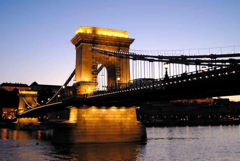 Ponte Chain de Budapest, Hungria foto de stock