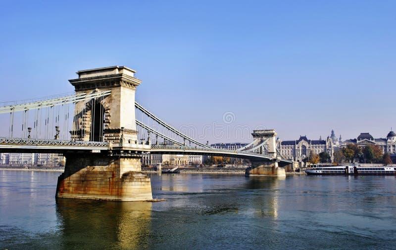 A ponte Chain em Budapest imagem de stock royalty free