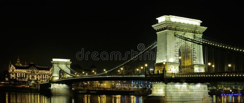 A ponte Chain em Budapest fotos de stock royalty free