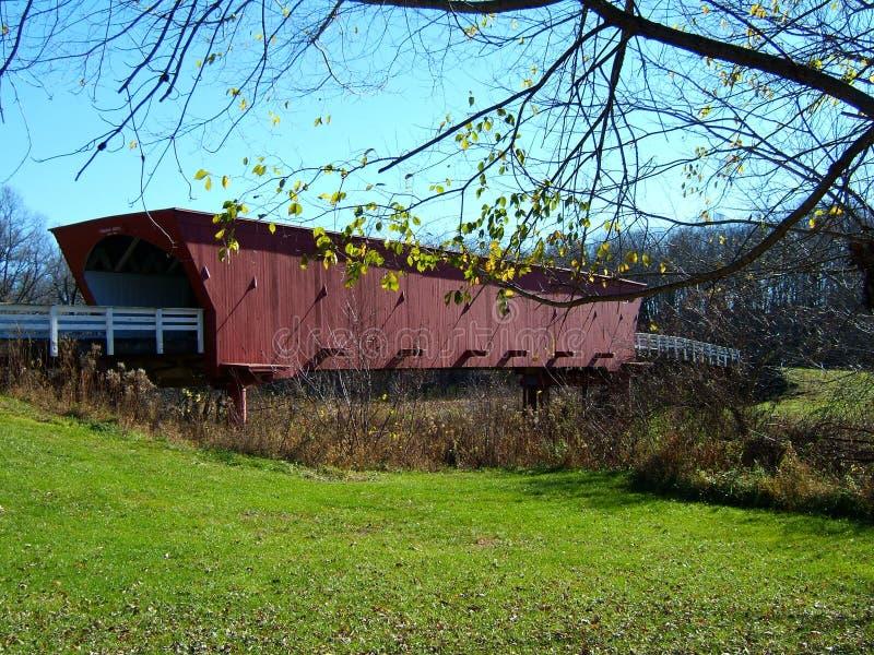Ponte coberta de Roseman, Madison Co. IA imagem de stock royalty free