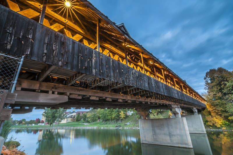 Ponte coberta em Frankenmuth Michigan imagem de stock royalty free