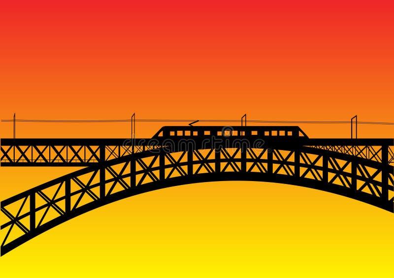 Ponte com metro ilustração stock