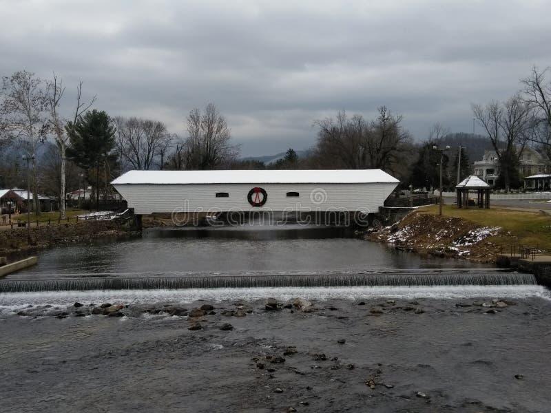Ponte coperto di Elizabethton immagini stock libere da diritti