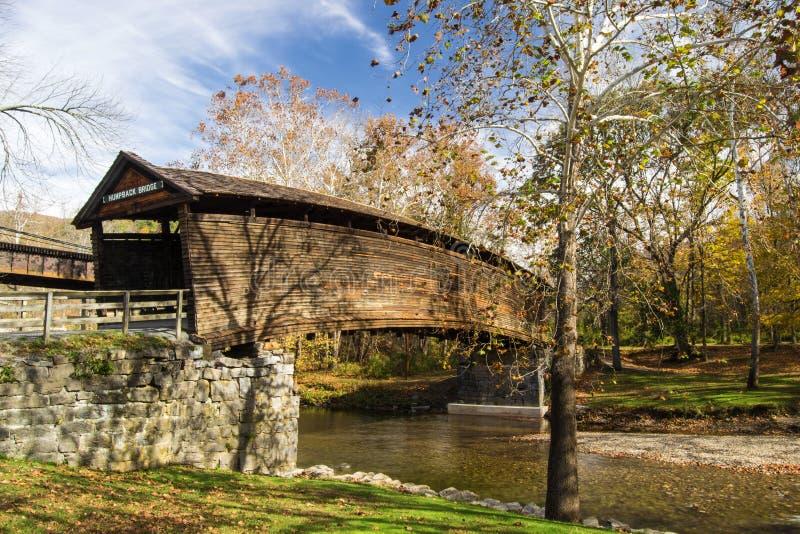 Ponte coperto a dorso d'asino, la Virginia, U.S.A. fotografia stock libera da diritti