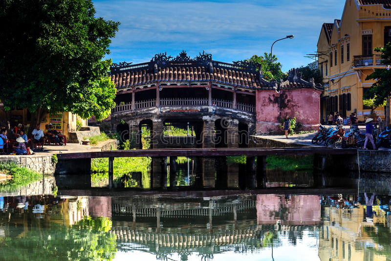 Ponte coperto giapponese Hoian, Quangnam, Vietnam fotografia stock libera da diritti
