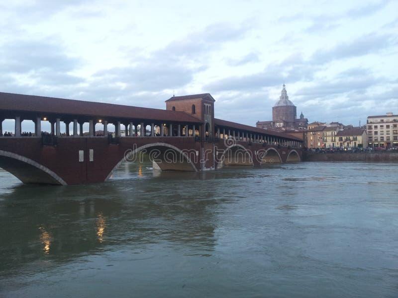 Ponte Coperto Pavia zdjęcia royalty free