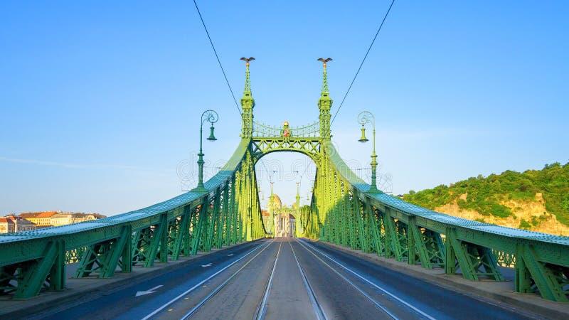 Ponte d'acciaio Budapest fotografia stock libera da diritti