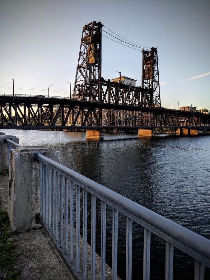 Ponte d'acciaio, Portland Oregon immagini stock